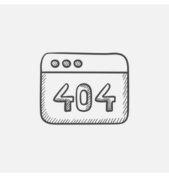 Browser window with the inscription 404 error vector image vector image