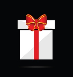 gift box with bow in colorful vector image