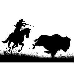last bison vector image