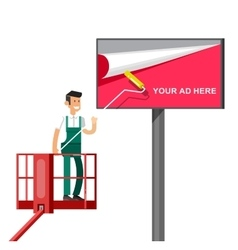 Blank billboard for new advertisement vector image