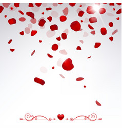 confetti falling rose petals vector image vector image