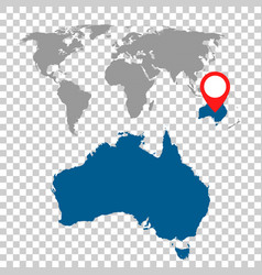 detailed map of australia and world map vector image