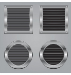 metal cooling squares vector image vector image