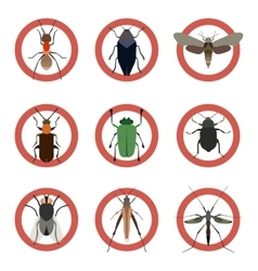 Pest insects control icons Collection danger ants vector image