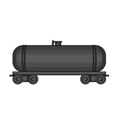 railway tank caroil single icon in cartoon style vector image vector image