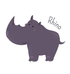 Rhino isolated Child fun pattern icon vector image vector image