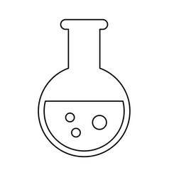 Test tube chemistry school line vector