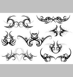 Tribal tattoo set vector image vector image
