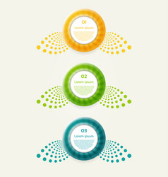 abstract infographics options banner vector image