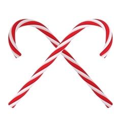Christmas candies cartoon icon vector image