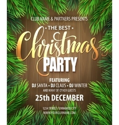 Christmas Party poster design template vector image