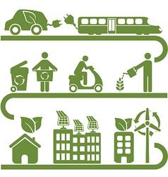Environment icons set vector
