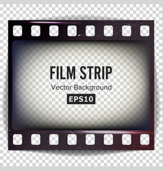 film strip frame strip blank scratched vector image