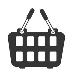 icon basket buy market shop isolated vector image