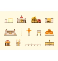 Rome historical building vector image