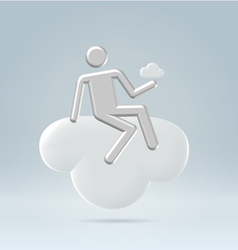 Sitting on a cloud vector image vector image