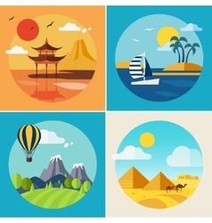 Summer Vacation Landscape Set vector image vector image