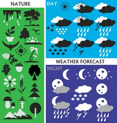 Weather and nature vector