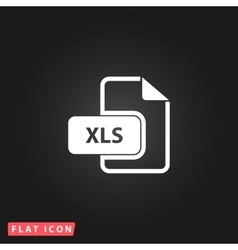 XLS extension text file type icon vector image