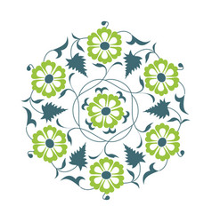 01 floral pattern green vector
