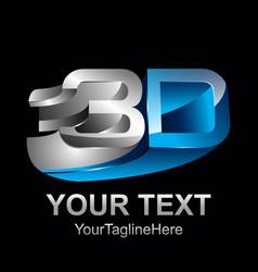 3d text shape icon logo shape rengering design vector