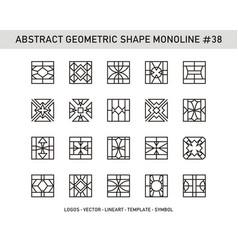 Abstract geometric shape monoline 38 vector