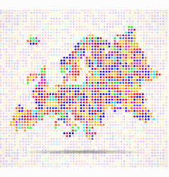 abstract map of europe colorful dots vector image