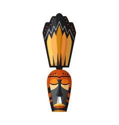 african hawaiian or mayan mystical mask on white vector image