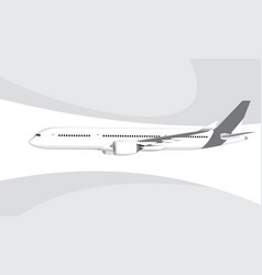 Airbus a350-800 vector
