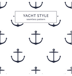 anchor navy blue pattern vector image
