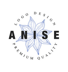 Anicse logo design premium quality culinary spicy vector