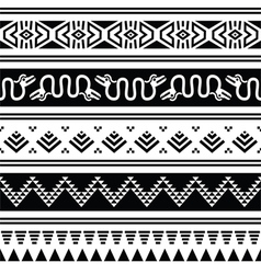 Aztec tribal seamless pattern with animals vector image