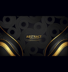Background with bright black color flow lines vector