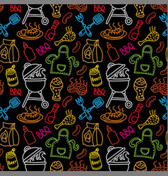 Barbecue grill pattern vector
