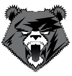 Bear image design tattoo emblem logo vector