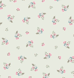 Beautiful floral pattern with small flowers vector