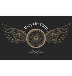 Bicycle Wheel emblem vector image