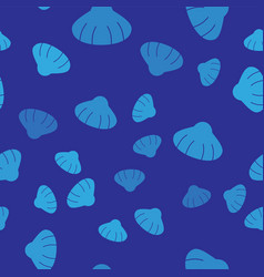 Blue scallop sea shell icon isolated seamless vector