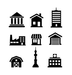 Buildings and architectural icons vector