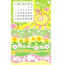 Calendar april vector
