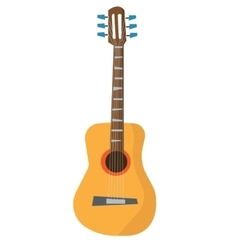 Classical acoustic guitar vector image