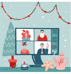 concept videoconference web communication vector image