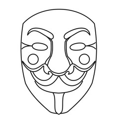 Crime mask icon outline style vector