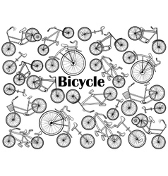 Cycle colorless set vector image