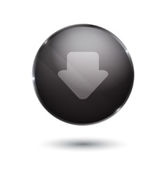 Download sign icon glass surface black button vector