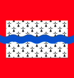 Flag of haute-vienne in nouvelle-aquitaine is the vector