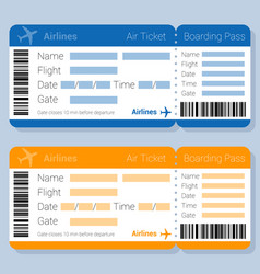 flat desipn airticket template vector image