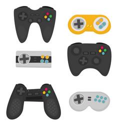 Flat joystick set isolated on white background vector