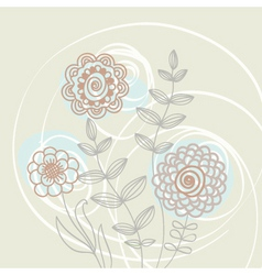 floral light background vector image