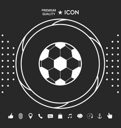 football symbol soccer ball icon graphic vector image